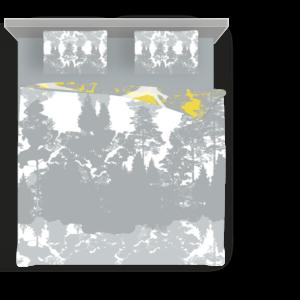 Bettwäsche Set Schwäne in gelb