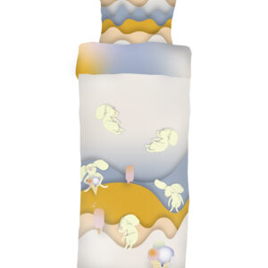 Die Bettgarnitur für Kleinkinder Mäuse auf Eisjagd
