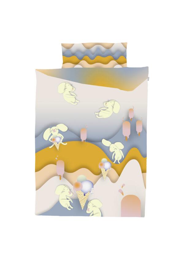 Die Bettgarnitur Mäuse auf Eisjagd