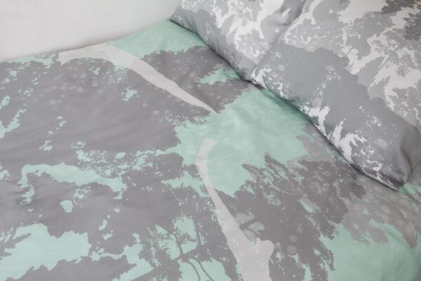 Suur voodipesukomplekt Luiged meresinises